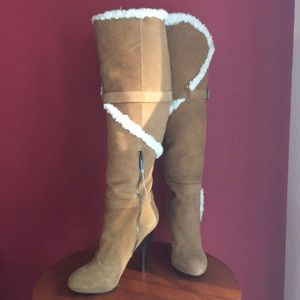 H By Halston Stiletto Suede Like Boots